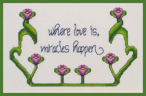 MarNic Designs Where Love Is, Miracles Happen
