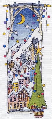 Michael Powell Art MPCP19 Christmas Lights II