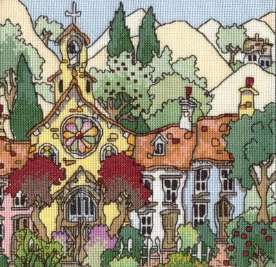 Michael Powell Art MPCP61 Cottage Gardens II