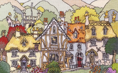 Michael Powell Art MPCP66 English Village I