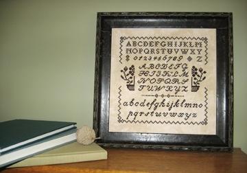 Midnight Stitching Prairie Schoolgirl's Sampler