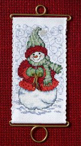 Mill Hill Banding Kits MH126302 Holiday Greetings 2006 ~ Warm Wishes Snowlady
