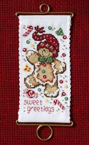 Mill Hill Banding Kits MH126304 Holiday Greetings 2006 ~ Sweet Greetings Gingerbread