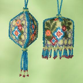 Mill Hill Beaded Ornament Kits MH503502 Autumn Series 2013 ~ Floral Trellis
