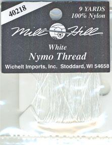 Mill Hill Beading Threads40218 Nymo Thread ~ White ~ 9 Yards