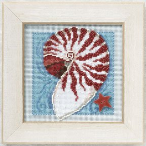 Mill Hill Buttons & Bead Kits MH140105 Spring Series  2010 ~ Nautilus Shell