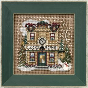 Mill Hill Buttons & Bead Kits MH140302 Winter Series 2010 ~ Clock Shoppe ~ Christmas Village Series