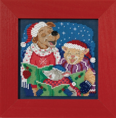 Mill Hill Buttons And Bead Kits MH141731 Winter Series 2017 ~ Caroling Trio