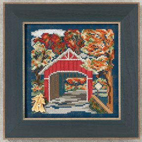 Mill Hill Buttons & Bead Kits MH142201 Autumn Series 2012 ~ Covered Bridge