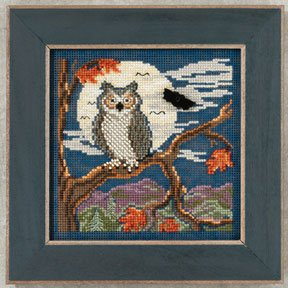 Mill Hill Buttons & Bead Kits MH142203 Autumn Series 2012 ~ Night Owl