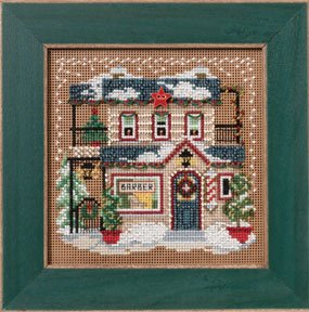 Mill Hill Buttons & Bead Kits MH142302 Winter Series 2012 ~ Barber Shoppe ~ Christmas Village Series