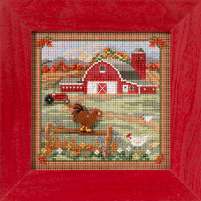 Mill Hill Buttons & Bead Kits MH143205 Autumn Series 2013 ~ Country Morning ~ Country Lane Series