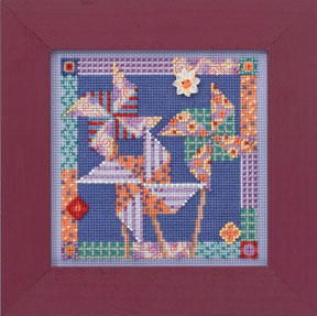 Mill Hill Buttons & Bead Kits MH144102 Spring Series 2014 ~ Pinwheels