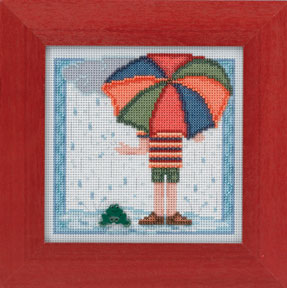 Mill Hill Buttons & Bead Kits MH144104 Spring Series 2014 ~ Rainy Day