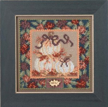 Mill Hill Buttons & Bead Kits MH144205 Autumn Series 2014 ~ White Pumpkins