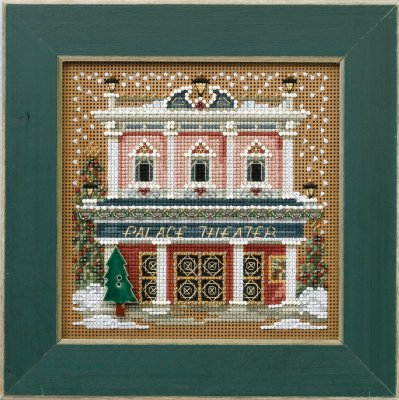 Mill Hill Buttons & Bead Kits MH144302 Winter Series 2014 ~ Palace Theater ~ Christmas Village Series