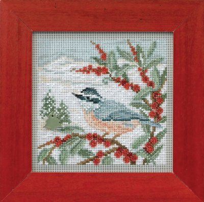 Mill Hill Buttons & Bead Kits MH144303 Winter Series 2014 ~ Nuthatch