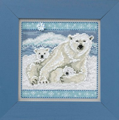 Mill Hill Buttons & Bead Kits MH144305 Winter Series 2014 ~ Polar Bears