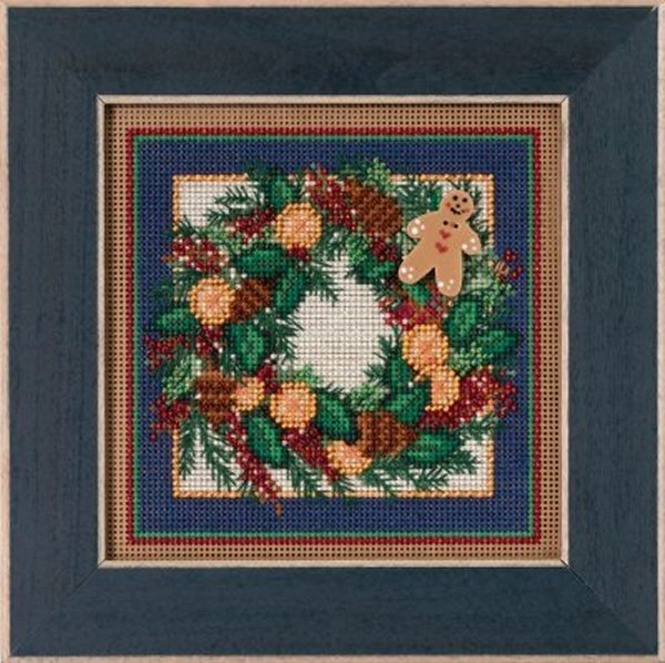 Mill Hill Buttons And Bead Kits MH145304 Winter Series 2015 ~ Spiced Wreath