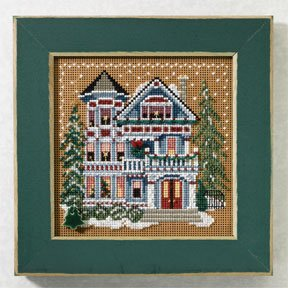 Mill Hill Buttons & Bead Kits MH147301 Winter Series 2007 ~ Queen Anne House