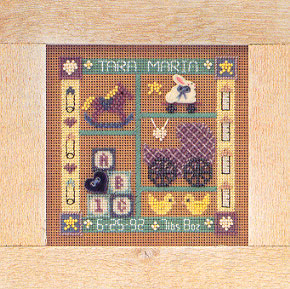 Mill Hill Buttons & Bead Kits MHCB120 Everyday Series 1998 ~ Baby Sampler