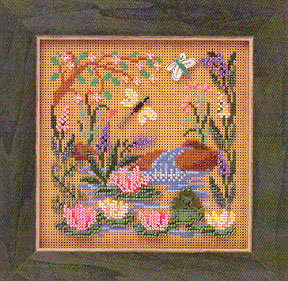 Mill Hill Buttons & Bead Kits MHCB142 Spring Series 2000 ~ Frog Pond