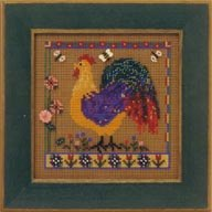 Mill Hill Buttons & Bead Kits MHCB158 Spring Series 2001 ~ Spring Rooster
