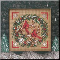 Mill Hill Buttons & Bead Kits MHCB223 Winter Series 2004 ~ Cardinal Wreath