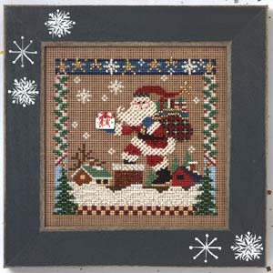 Mill Hill Buttons & Bead Kits MHCB243 Winter Series 2005 ~ Rooftop Santa