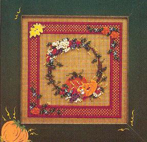 Mill Hill Buttons & Bead Kits MHCB67 Autumn Series 1996 ~ Autumn Wreath