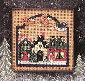 Mill Hill Buttons & Bead Kits MHCB78 Winter Series 1995 ~ Christmas Village