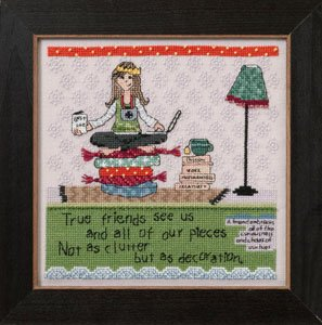 Mill Hill Curly Girl Kits CG302102 Everyday Series 2012 ~ Clutter