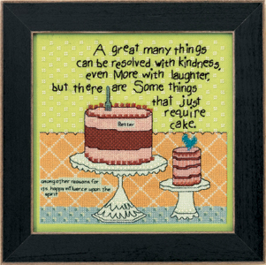 Mill Hill Curly Girl Kits CG303104 Everyday Series 2013 ~ Cake Required