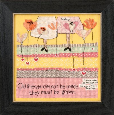 Mill Hill Curly Girl Kits CG305101 Everyday Series 2015 ~ Old Friends