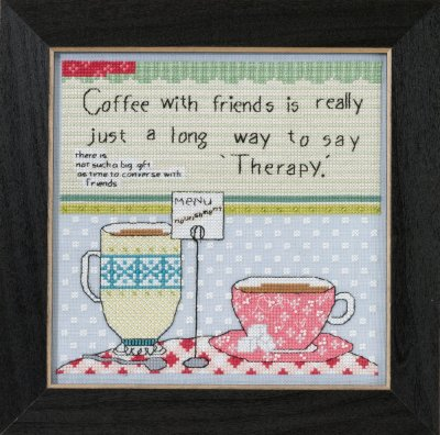 Mill Hill Curly Girl Kits CG305103 Everyday Series 2015 ~ Coffee With Friends
