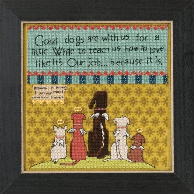 Mill Hill Curly Girl Kits CG305104 Everyday Series 2015 ~ Good Dogs