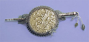 Mill Hill Jewelry Kits MH506503 Beaded Bella Brooch 2006 ~ Silver Leaf