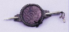 Mill Hill Jewelry Kits MH506504 Beaded Bella Brooch 2006 ~ Amethyst Fan