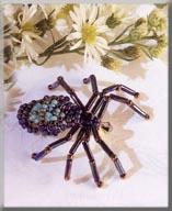 Mill Hill Jewelry Kits MHB5 Beaded Bug Pins 2003 ~ Sally Spider