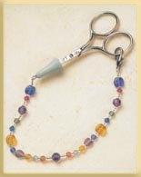 Mill Hill Jewelry Kits MHFOB1 Treasured Scissors Fobs 2002 ~ Confetti Crystal