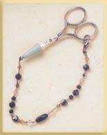 Mill Hill Jewelry Kits MHFOB6 Treasured Scissors Fobs 2002 ~ Black Magic