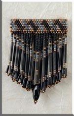 Mill Hill Jewelry Kits MHJBP6 Jeweled Bar Pins 1999 ~ Black Mirage