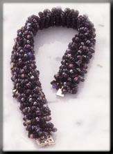 Mill Hill Jewelry Kits MHTLB1 Treasured Lace Bracelets 2003 ~ Black Plum