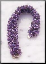 Mill Hill Jewelry Kits MHTLB3 Treasured Lace Bracelets 2003 ~ Jeweled Amethyst