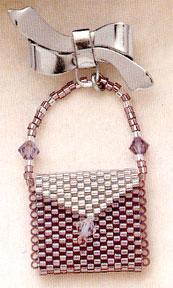 Mill Hill Jewelry Kits MHLPP1 La Petite Purse Pins 2004 ~ La Heather Ice