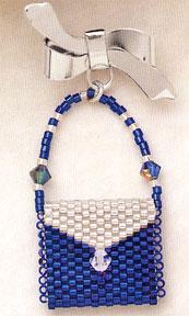 Mill Hill Jewelry Kits MHLPP5 La Petite Purse Pins 2004 ~ La Blueberry Ice