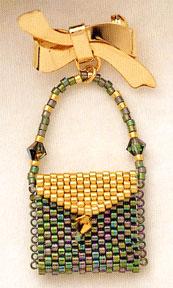 Mill Hill Jewelry Kits MHLPP6 La Petite Purse Pins 2004 ~ La Golden Autumnk