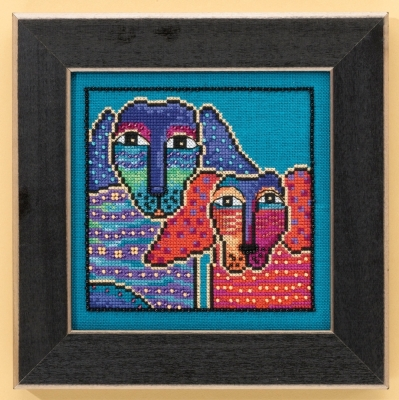 Mill Hill Laurel Burch Kits LB301611 Ol' Blue and Red ~ 28 Count Linen
