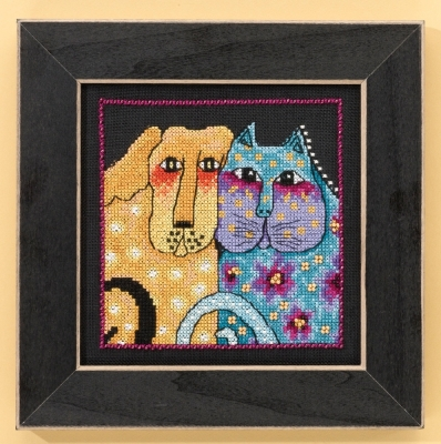 Mill Hill Laurel Burch Kits LB301622 Fur-ever Friends ~ 14 Count Aida