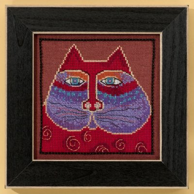 Mill Hill Laurel Burch Kits LB305105 Cats Collection Red Cat ~ 28 Count Linen